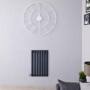 Hudson Reed Radiateur design électrique horizontal - Anthracite - 63,5 cm x 41,5 cm x 5,5 cm - Vitality