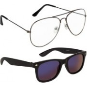 NuVew Aviator, Wayfarer Sunglasses(Golden, Blue, Clear, Violet)