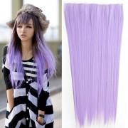 Clip in vlasy - 60 cm dlouhý pás vlasů - odstín Light Purple - Světové Zboží