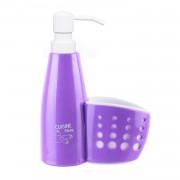 Dozator de sapun lichid cu suport burete-violet