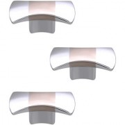 Doyours Chrome Cabinet Knob White Metal - Set of 3