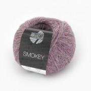 Lana Grossa Smokey von Lana Grossa, Rotviolett/Hellgrau