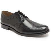 Hats Off Accessories Genuine Leather Black Derby Brogues Shoes