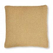 Kave Home Capa de almofada Shallow mo , en Tecido - Mostarda