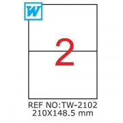 Etichete A4 , 210 x 148,5mm , TW 2102