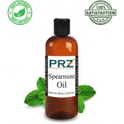 PRZ Spearmint Essential Oil (50ML) - Pure Natural & Therapeutic Grade Oil For Aromatherapy Body Massage Skin Care & Hair Care