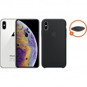Apple iPhone Xs 512 GB Zilver + Silicone Back Cover