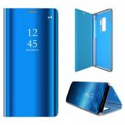 Luxury Mirror View Samsung Galaxy S9+ Flip Case - Blue