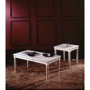 Millerighe - szögletes kisasztal márványlappal - zöld
