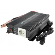 Invertor de tensiune 24V 230V 600W incarcator de baterie incorporat SCHUCO HQ