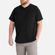 Castaluna For Men T-shirt de tamanho grande, decote em V, mangas curtasPreto- 66/68