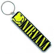 Breloc chei (pandantiv) Nirvana - Smiley & Logo - ROCK OFF - NIRVKEY01