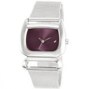 Fastrack Fits & Forms Analog Purple Dial Womens Watch - 6091SM01