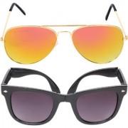 Aligatorr Combo Of 2 Aviator Unisex Sunglasses gylfoldCRLK