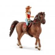Schleich Redhead Hannah și calul Cayenne