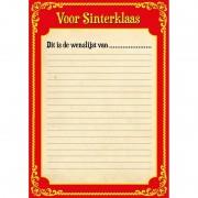 Merkloos 18x Papieren school Sinterklaasfeest kleurplaat placemats