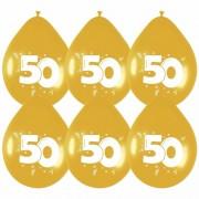Geen Verjaardagsfeest Gouden ballonnen 50 jaar