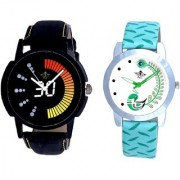 Race High Speed And Green Peacock Feathers Girls Analogue Watch By SCK