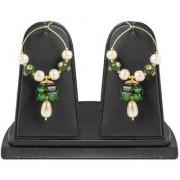 Jewels Gold Alloy Simple Stylish Latest Designer Party Wear Jhumki Earring Set For Women Girls