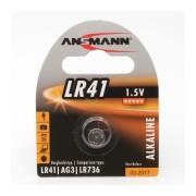 1er Blister ANSMANN Alkaline Knopfzelle LR41