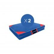 Pack 2x Colchonetas plegables 150 x 60 x 5 cm - doble aglomerado