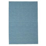 RugVista Kelim Loom Teppich 200X300 Wohnzimmer Handgewebter Einfarbig Wolle Türkisblau/Hellblau