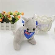 Mr. Bear & His Friends 28CM Cute kangaroo Plush Stuffed Animals Soft Toys Kangaroos with scarf Children Kids Baby Toy Playing Dolls Gifts - Grey Body With Blue Scarf