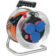 Brennenstuhl fém kábeldobos hosszabító - narancssárga 3X1,5 IP44 25m