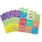 Bauzooka 3-inch Kannada Alphabet Varnamala Numbers 1 to 10 Kids Puzzle Play Mats with Added Fragrance (59 Pieces)