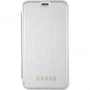 Husa Agenda Piele Argintiu APPLE iPhone X GUESS