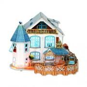 3D Puzzle Rural Villa Dollhouse CubicFun P635h 132 Pieces