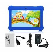 Q88 De 7 Pulgadas De Pantalla Táctil Multitouch Niños Tablet 512 MB +8GB Enchufe UE Kids Pad Azul Oscuro