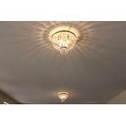 Worldwide Lighting W33085B16 Metropolitan Lámpara de techo con 4 luces, acabado en bronce antiguo, accesorio redondo mediano, 40,6 cm de profundidad x 30,5 cm de alto