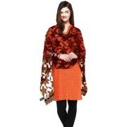 Weavers Villa Brown Net Floral Dupatta