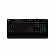 Teclado gamer Logitech G213 Prodigy con retroiluminación RGB, USB, (Versión Inglés). 920-008084