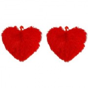 Ayaansh Creations Set of 2 Soft Heart Shape Cushions