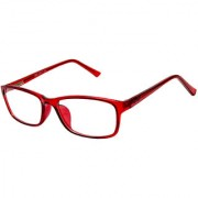 Cardon Red Rectangular Unisex Full Rim
