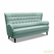 Canapea cu 3 locuri eleganta, stil nordic cu accente retro Fifties 3 turcoaz deschis