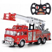 20' Jumbo R/C Rescue Fire Engine Truck Remote Control Toy with Ladder