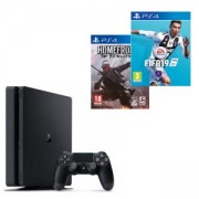 Конзола PlayStation 4 Slim 500GB Black, Sony PS4+Игра Homefront: The Revolution+Игра FIFA 19 за PlayStation 4