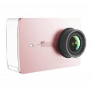 Xiaomi YI 4 K Cámara de Acción Ambarella A9SE75 deportes Mini cámara brazo 12MP CMOS 22.19in 155 grados pantalla táctil Wifi(#Rose Oro)
