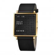 Biegert & Funk Qlocktwo Watch Gold Black W35 - Engels