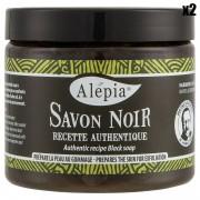 Alepia 2 Savons Noirs recette authentique hydratants & exfoliants - 2x200 ml