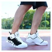 Zapatos De Baloncesto Para Hombre TENIS ZAPATILLAS Calzado Deportivo -Negro Y Blanco