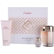 Cartier Baiser Volé coffret V. Eau de Parfum 100 ml + leite corporal 100 ml + Eau de Parfum 6 ml