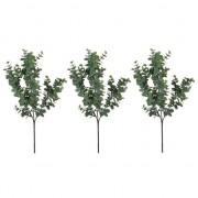 Shoppartners 3x Eucalyptus kunsttak grijs/groen 65 cm