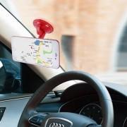 Cupula Universal Car Air Vent Mount telefoonhouder, voor iPhone, Samsung, Huawei, Xiaomi, HTC en andere smartphones (rood)