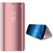 Samsung Galaxy S9 Luxury Mirror View Flip Case - Rose Gold