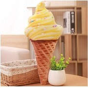 Imported And New Akira 30 cm Creative Cute Yellow Ice Cream Soft Pillow For Home Decoration