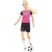 Barbie Quiero Ser futbolista, muñeca rubia con accesorios